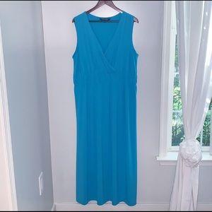 3/$23 Turquoise Maxi Dress - Sz XL